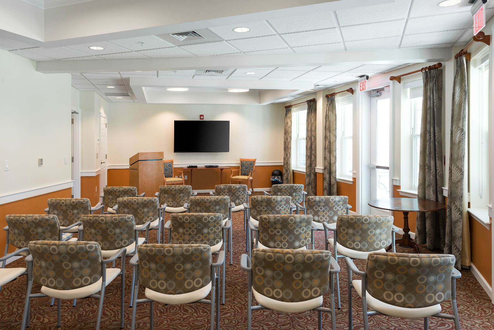 Movie theatre at Scott-Farrar Independent & Assisted Living in Peterborough, NH