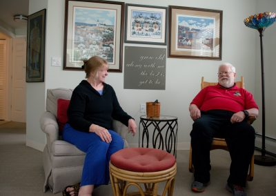 Scott-Farrar independent living residents Charlie and Kathy